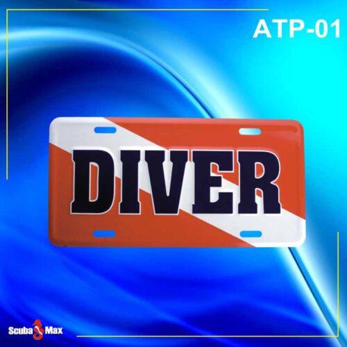 Scuba Max ATP-01 Dive Flag License Plate