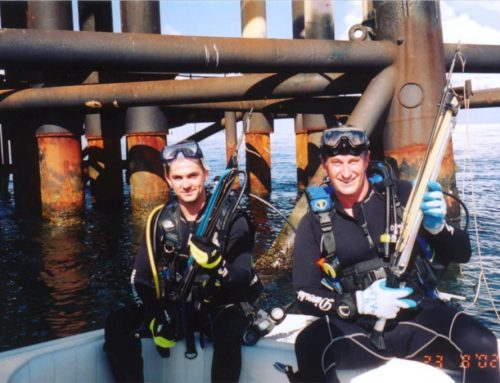 Spearfishing on the Oil Rigs