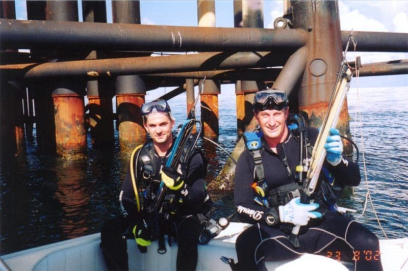 Spearfishing on the rigs